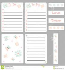 Notes Template Printable Cute Colorful Set Of Printable Template For Cards Notes