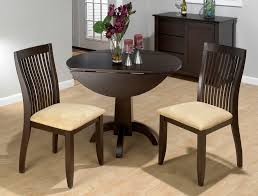 elegant drop leaf dining table set 18 beautiful kitchen 23 small round wood painted with dark brown color plus 2 chairs for rustic modern ideas white