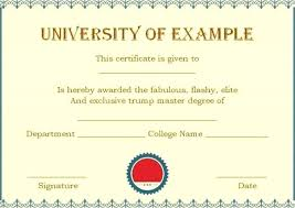 degree certificate templates blank gift certificate template luxury playing card unique college
