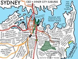 sydney neighborhood culture map – urbane map store