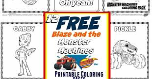 Blaze And The Monster Machines Nick Jr Coloring Pages Coloring Pages