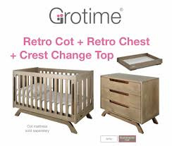 retro baby furniture. Grotime Retro Cot 3 Pc Special Package | Baby Cots For Sale In Glenhuntly Furniture S