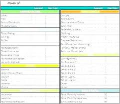 Free Budget Sheet Template Monthly Expenses Spreadsheet