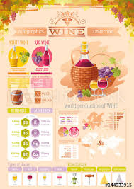 Alcohol Types Chart Wine Grapes Food And Drink Infographics Icons Vector