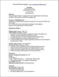 Functional Resume Example Best Functional Resume Sample Swarnimabharathorg
