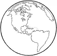 earth coloring sheet