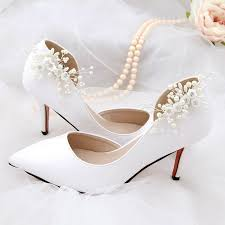 2019 elegant diy high heel charms decoration shoe clip simulated pearl fl beads women shoes clips buckle fashion clothing sandals from xiamenshoes