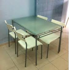 ikea glass dining table and 4 chairs furniture tables on canada