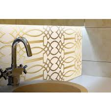 Etched Tile Designs Gold Hand Carved Design On Beige Marble Helen Uniquely