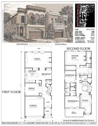 fancy urban house plans 12 simple home narrow lot new infill floor