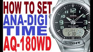 Casio Analog Watch With Light Setting Casio Aq 180w Manual For Use