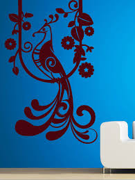 peacock on branch wall decal by creative width ping for wall decals stickers in india 9851987