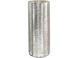 lumia embossed silver glass hurricane lamp large
