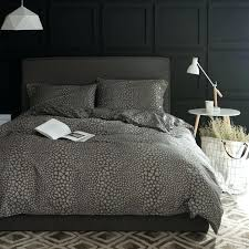 leopard bedroom sets home dark gray leopard print bedding sets queen king double twin size cotton