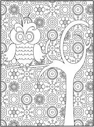 Colouring Pages For Big Kids Mackenzie Owl Coloring Pages Adult