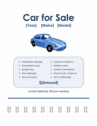 Car For Sale Template Car For Sale Flyer Faveoly