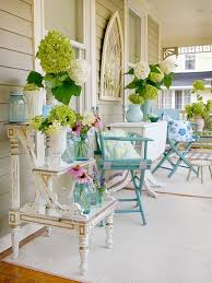shabby chic outdoor furniture. With A Few Outside Rugs, Mismatched Pieces Of Furniture Unified By Paint\u2026some Pretty Folding Chairs And Loving Touches This Perfect Porch Is Complete. Shabby Chic Outdoor T