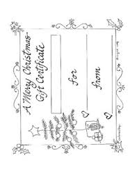 Printable Christmas Certificates Merry Christmas Gift Certificate Printable By Ingrids Art Tpt