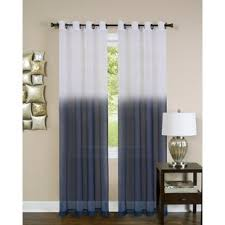 office curtains. Darvone Essence Solid Sheer Grommet Single Curtain Panel Office Curtains