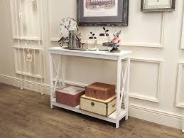 white sofa table. Amazon.com: White Finish 3-Tier X-Design Occasional Console Sofa Table Bookshelf: Kitchen \u0026 Dining