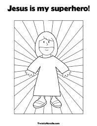 Small Picture jesus super hero Colouring Pages Sunday School Pinterest