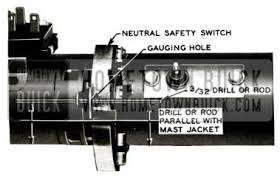1957 buick electrical systems maintenance 1957 buick safety switch repair
