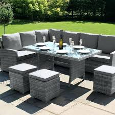 garden dining sets asda. full image for outdoor grey rattan furniture maze garden kingston corner dining set sets asda g