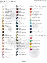 Meticulous Swarovski Crystal Colour Chart Pdf Swarovski