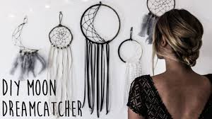 Where Are Dream Catchers From DIY How To Make A Crescent Moon Dreamcatcher YouTube 31