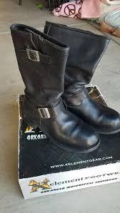 xelement mens black leather biker boots 8 5
