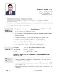 Mechanical Electrical Engineer Sample Resume Electrical Engineer Sample Resume Resume Template 17