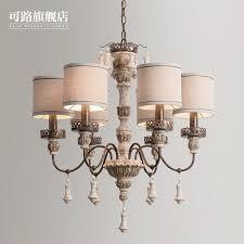 american country iron chandelier nordic past personality carved wooden dining room bedroom lamp french wood icon2 for home additions remodeling