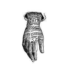 手の甲の刺青販促pop用画像素材036無料フリーイラストをepsベクター