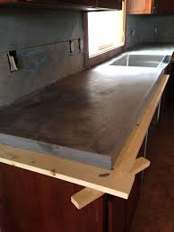 image of concrete countertop edge forms home