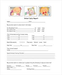 baby daily report sheet 15 infant daily sheets resume cover