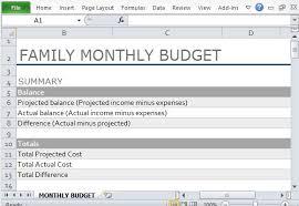Sample Of Family Budget Sample Family Budget For 4