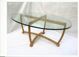 oval glass top coffee table scan 1308