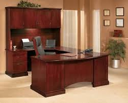 belmont series u desk with hutch in sunset cherry cherry office furniture