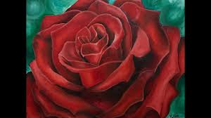red rose oil painting time lapse