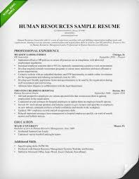 Human Resources Resume Adorable Human Resources HR Resume Sample Writing Tips