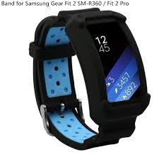 Dây đeo đồng hồ thể thao bằng silicon mềm dành cho đồng hồ thông minh  Samsung Gear Fit 2 / fit2 Pro, giá chỉ 108,396đ! Mua ngay kẻo hết!