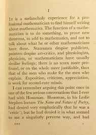 who was ramanujan wired the beginning of hardy s a mathematician s apologyto be fair however hardy wrote the book at a low point in his own life when he was concerned about his