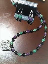 amethyst aventurine and onyx necklace