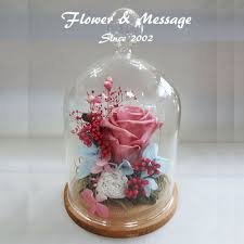 cherry blossom preserved flower never withered rose in a glass dome special day gift
