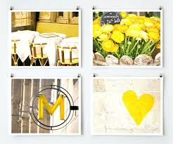 Wall Arts Yellow And Gray Art Decor Wonderful Modern