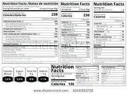 Ingredients Label Template Blank Nutrition Label Template Facts Bettylin Co