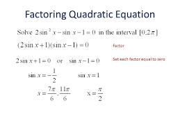 factoring quadratic equation