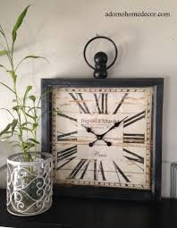 large metal square wall clock paris rustic decor industrial
