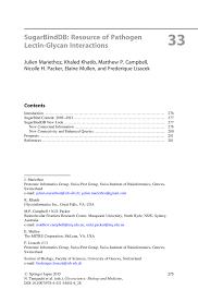 Sugarbinddb Sugarbinddb Resource Of Pathogen Pathogen Lectin