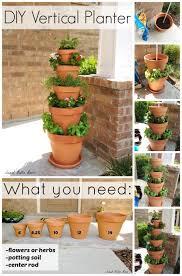 diy vertical planter herb or flower